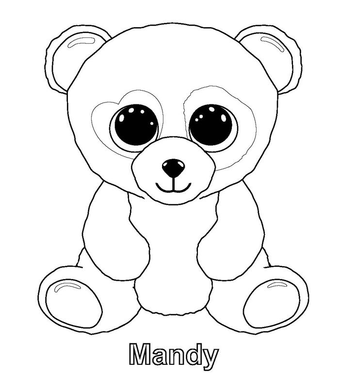 ty beanie boo coloring download and for free