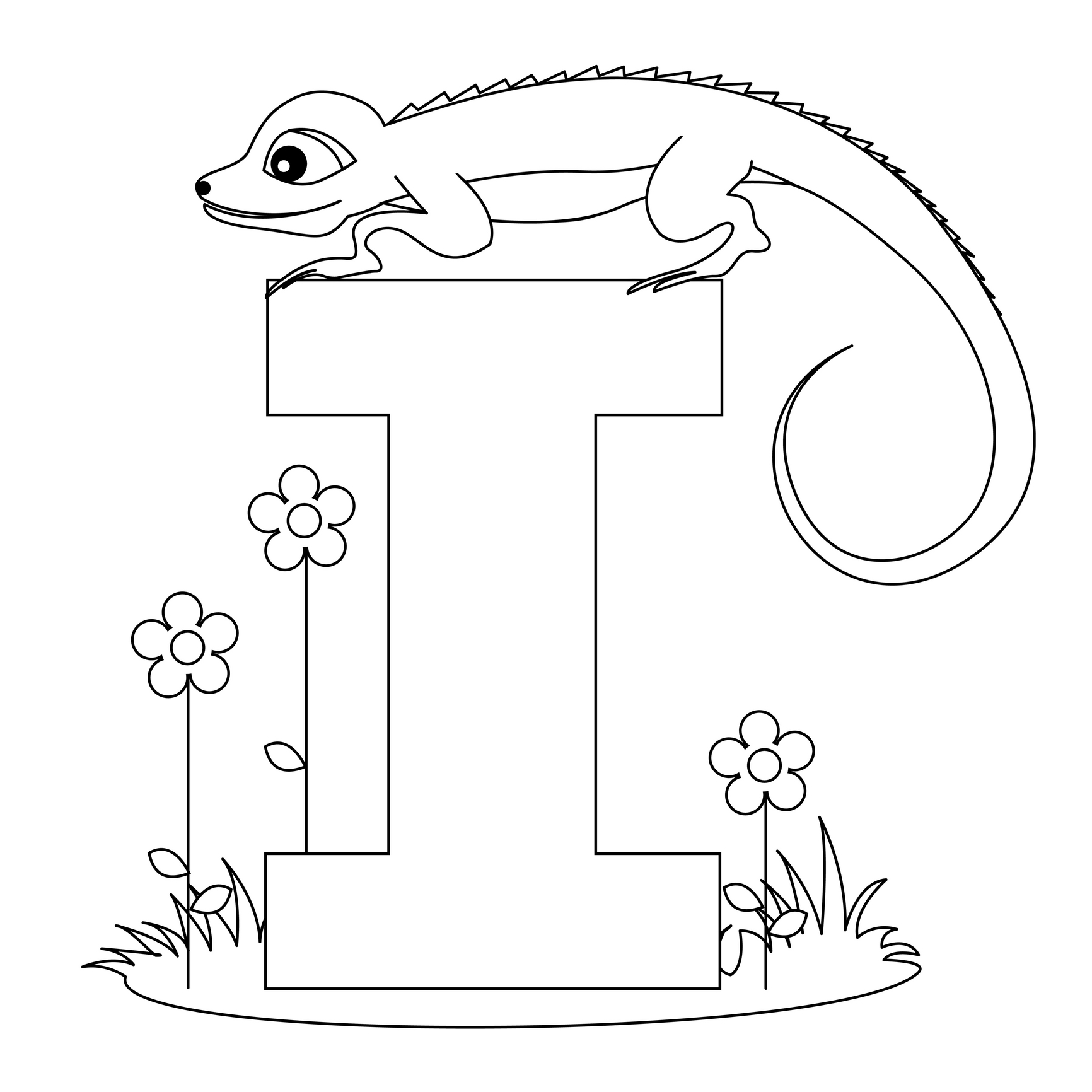 Letter I Coloring Pages To Download And Print For Free