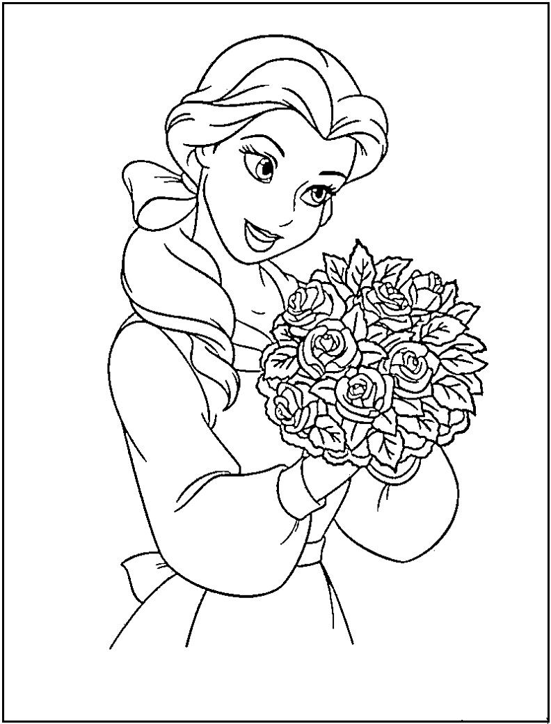 disney princess print and color pages coloring page