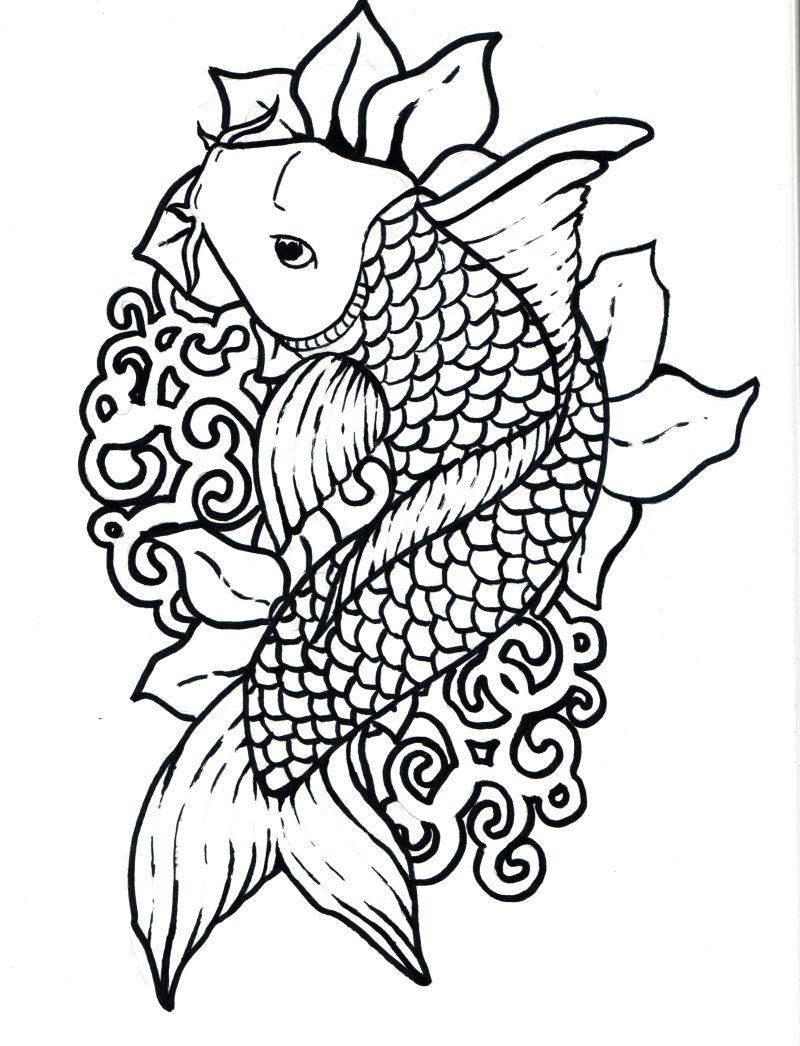 koi fish to download and print for free