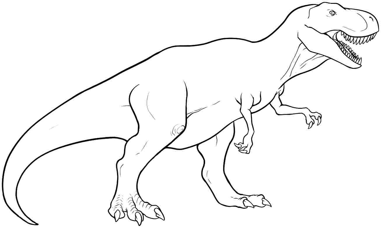 t rex coloring pages to download and print for free
