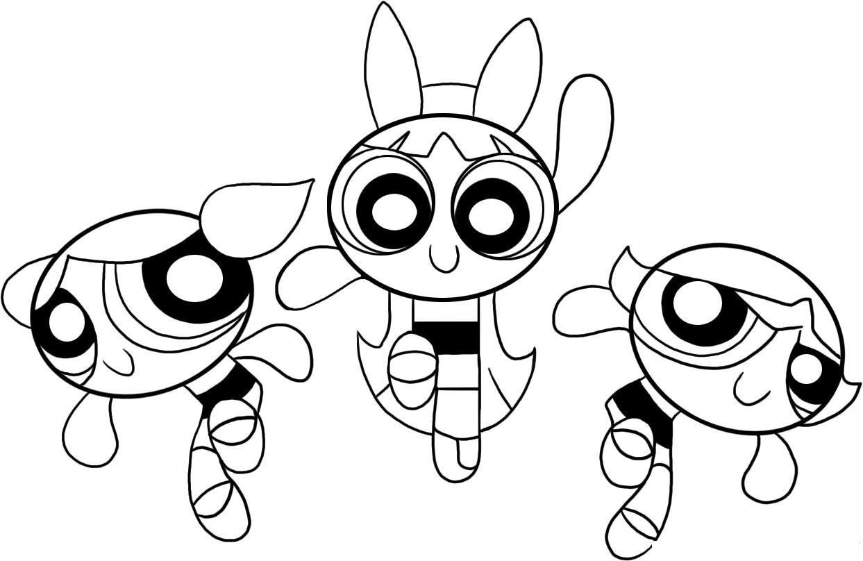 Powerpuff Buttercup Coloring Pages Download And Print For Free