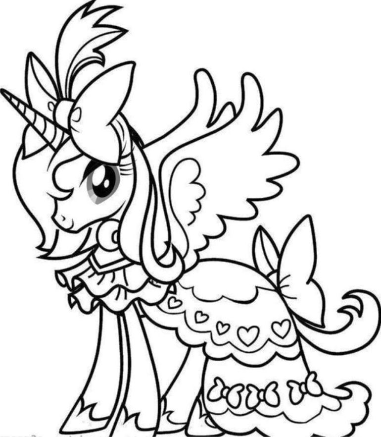 Unicorn coloring pages to download and print for free | coloring pages printable unicorn
