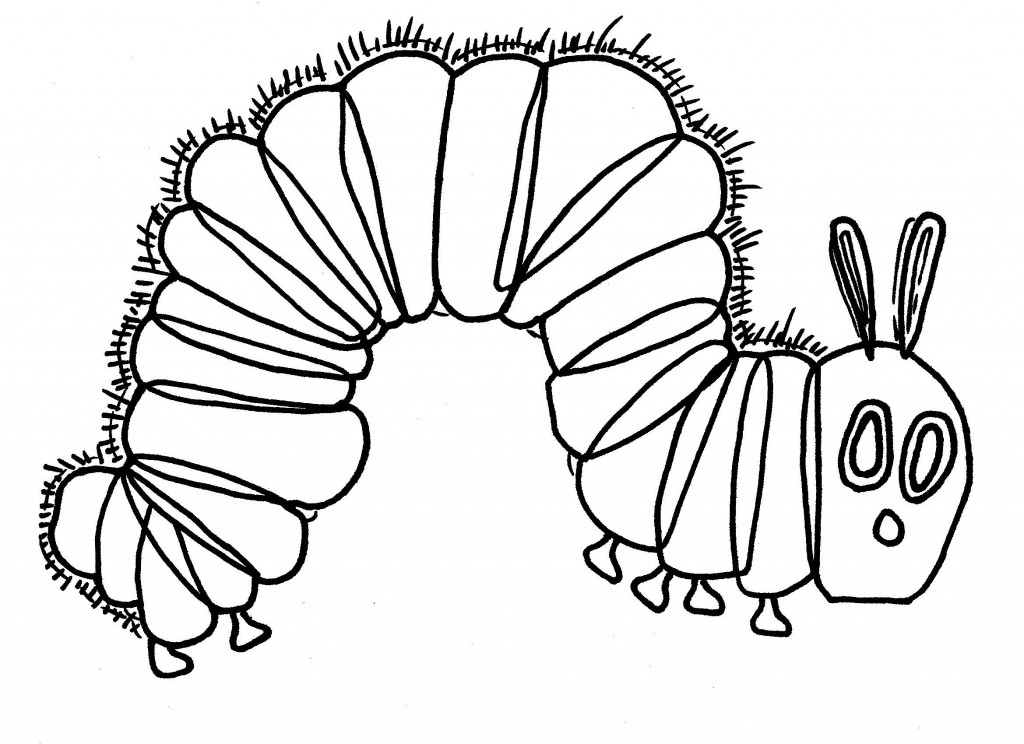 very hungry caterpillar coloring page aaldtk