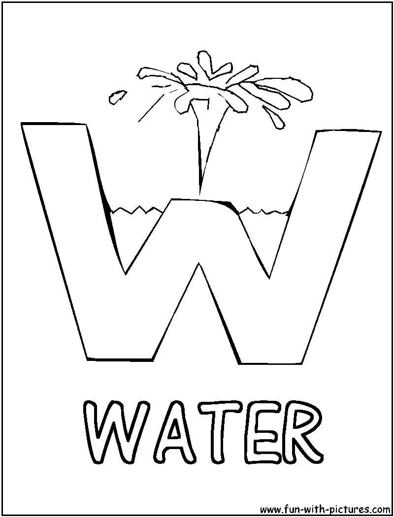 water coloring pages to download and print for free