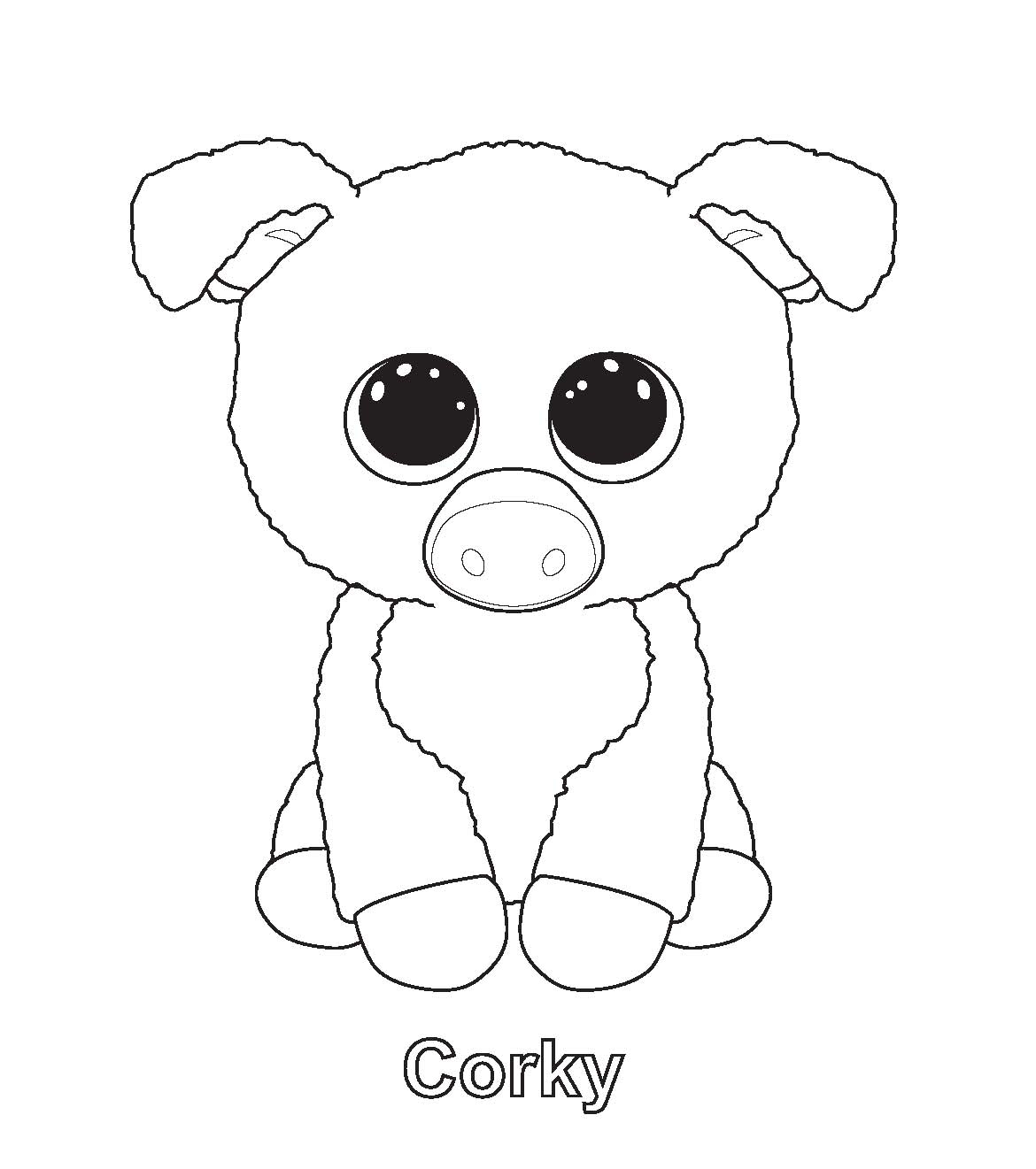Ty Beanie Boo Coloring Pages Download And Print For Free