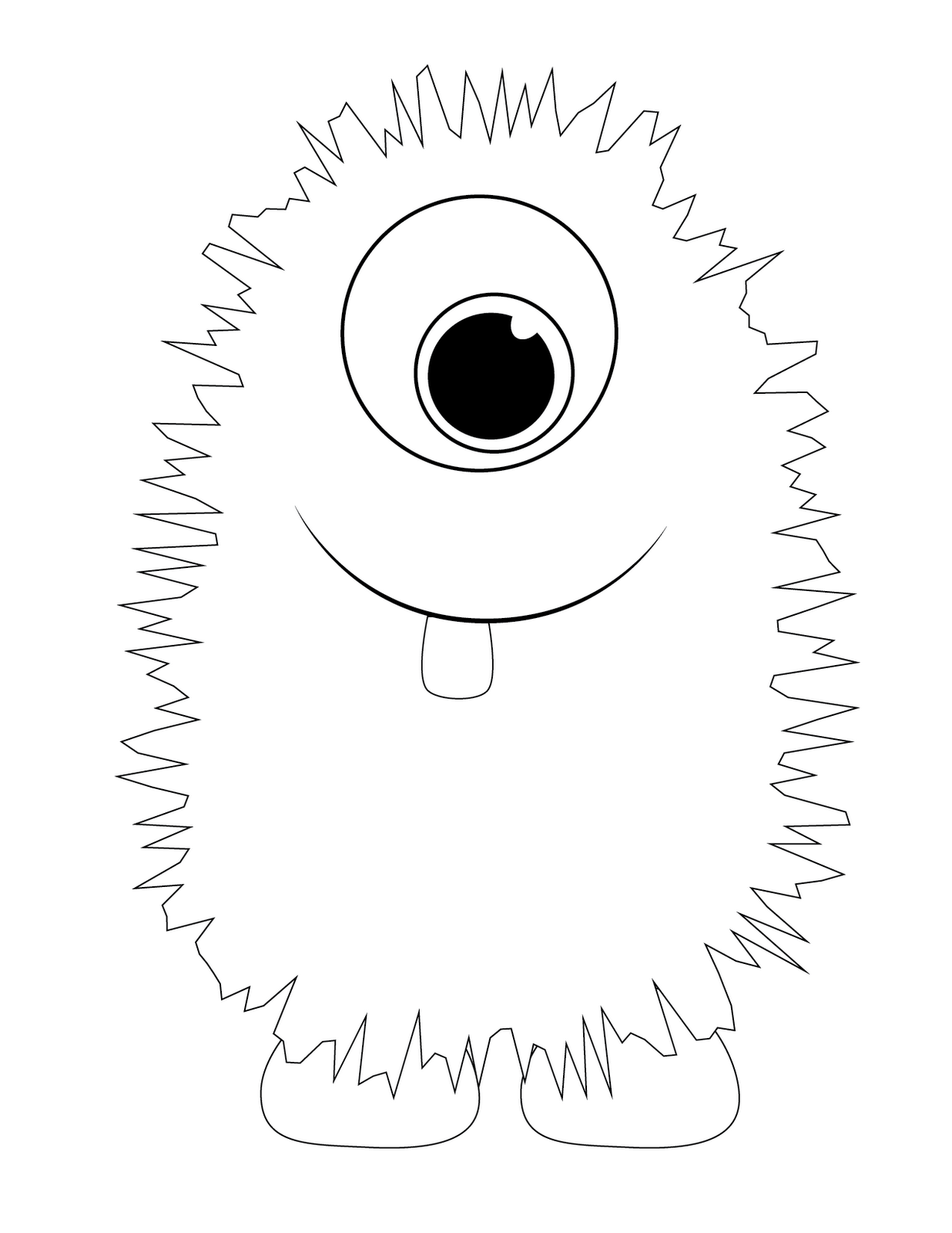 Monster Coloring Pages To Download And Print For Free