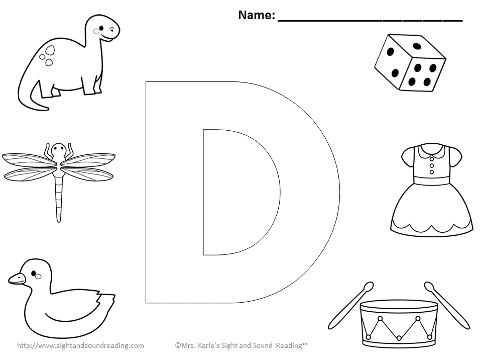 free letter d coloring pages to print for kids download print and