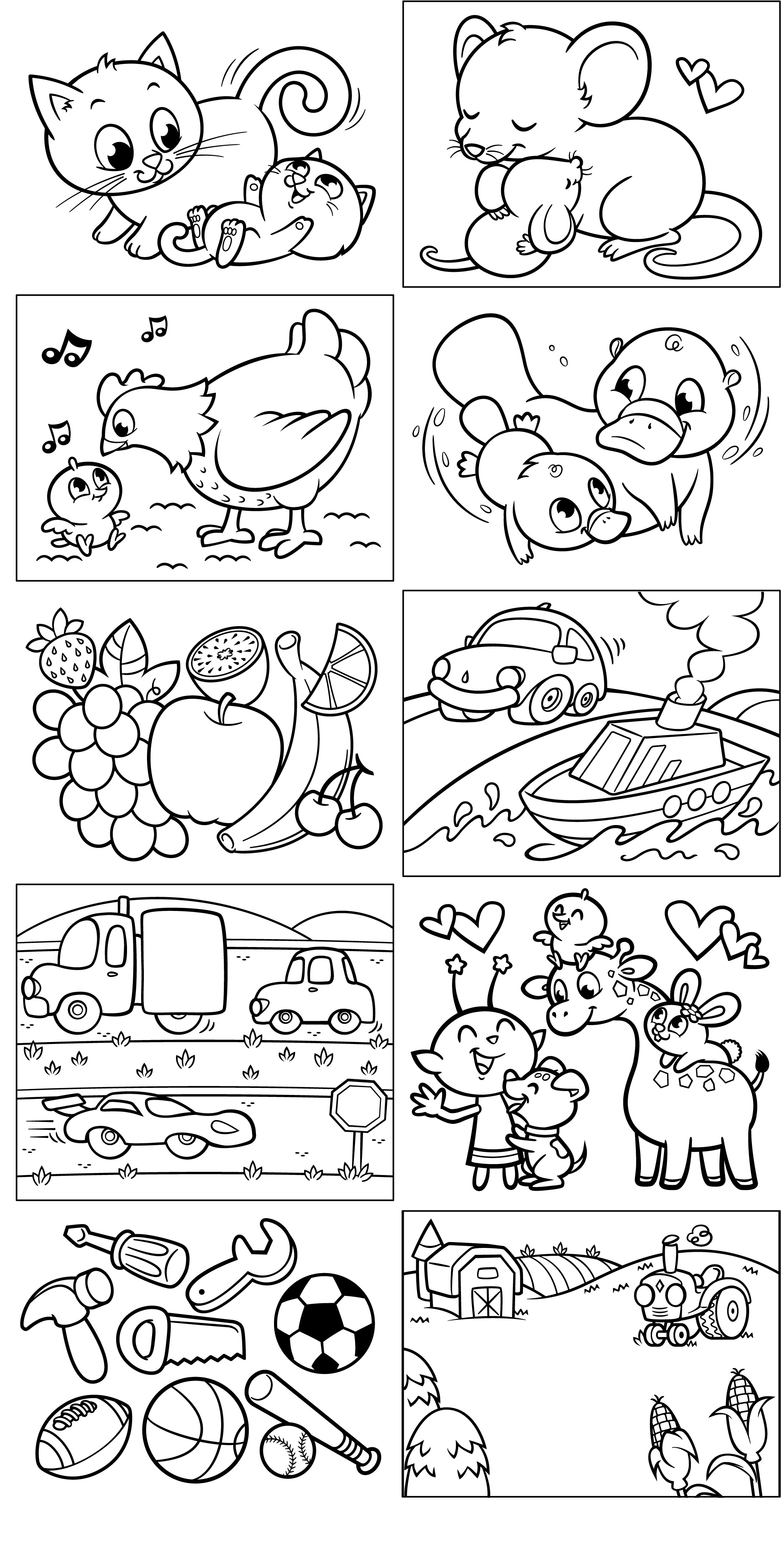 Page About Opposites Coloring Pages