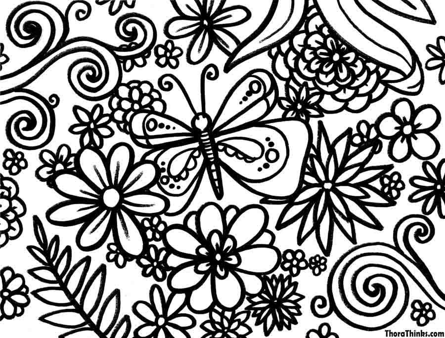 spring coloring to print for kids download print and