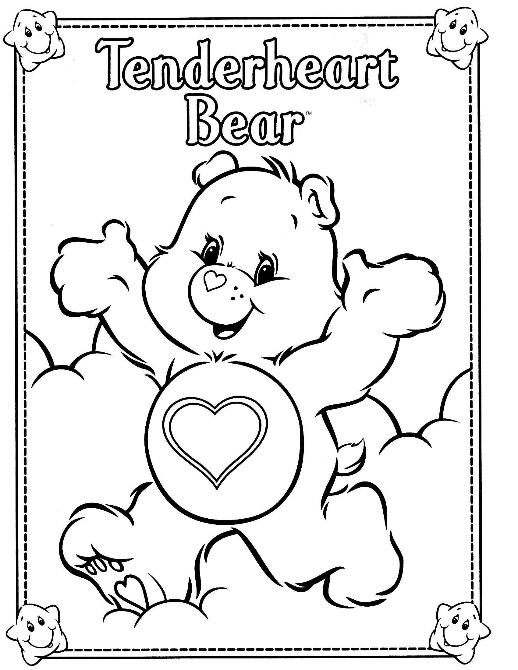 free care bear coloring pages to print for kids download print and