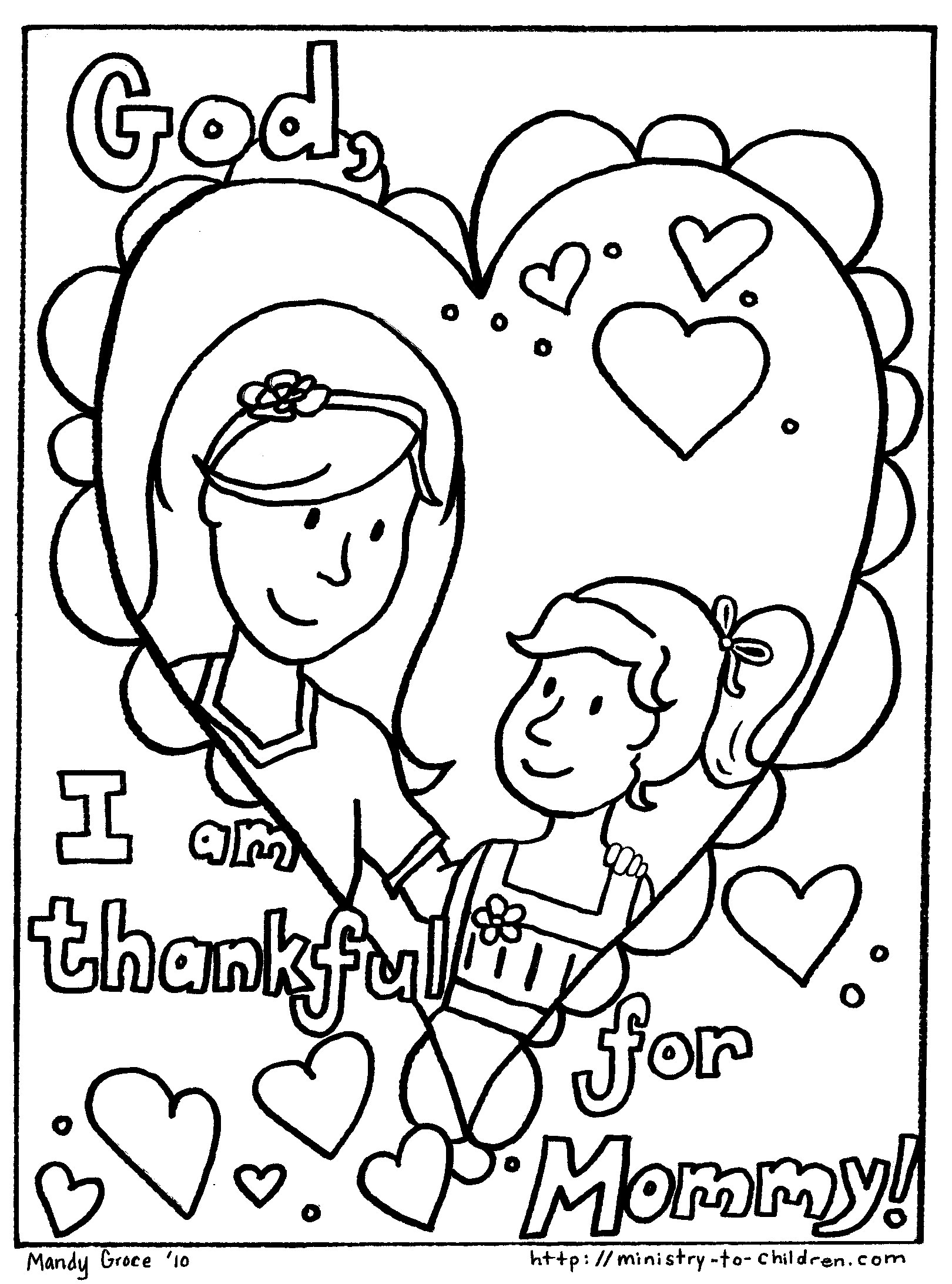 Mother Day Coloring Pages To Download And Print For Free