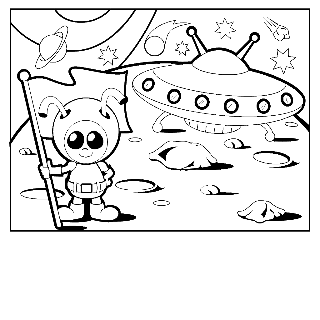 Alien Coloring Pages To Download And Print For Free