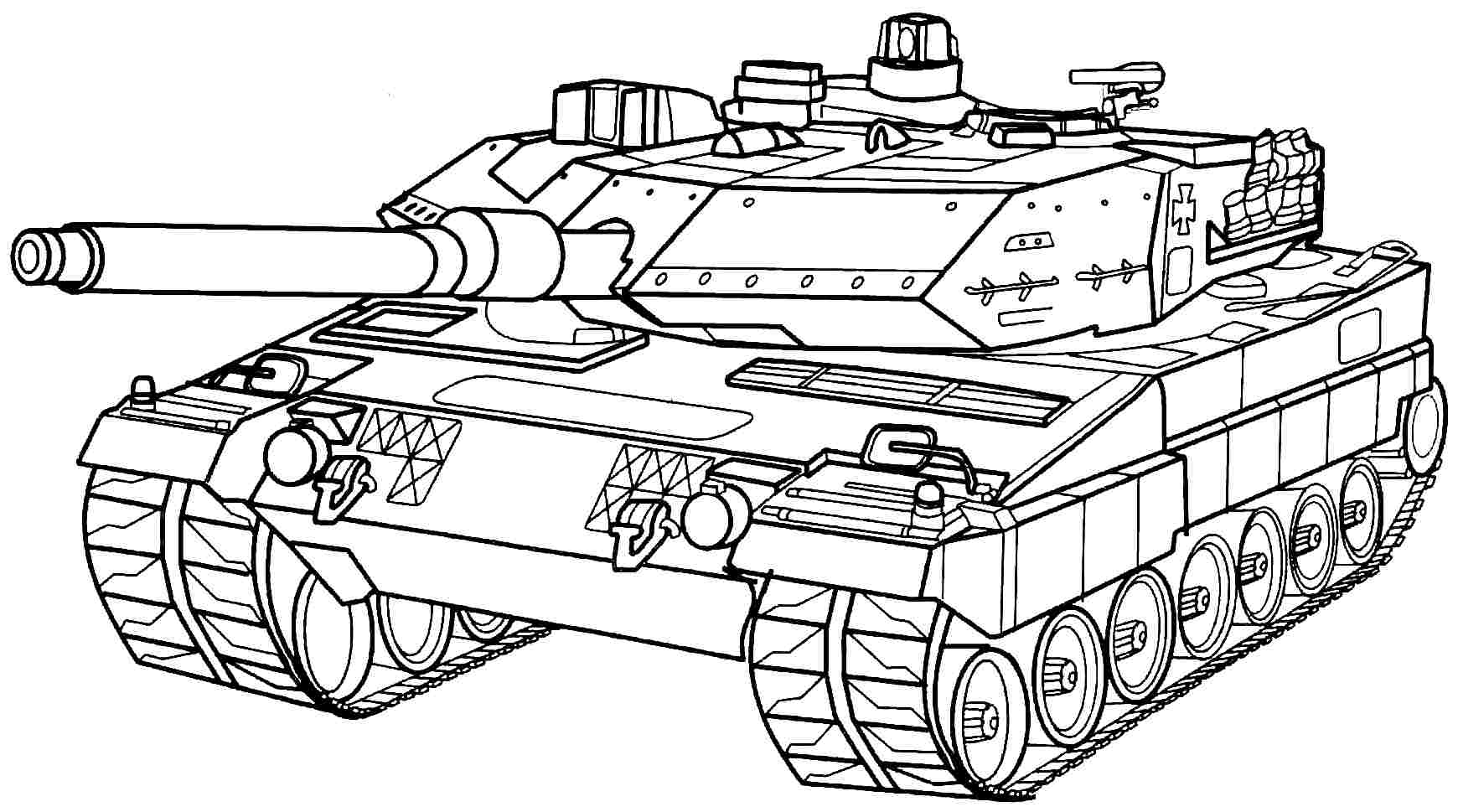 Tank Coloring Pages To Download And Print For Free