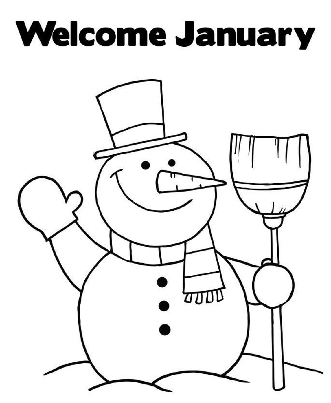 January Coloring Pages To Download And Print For Free