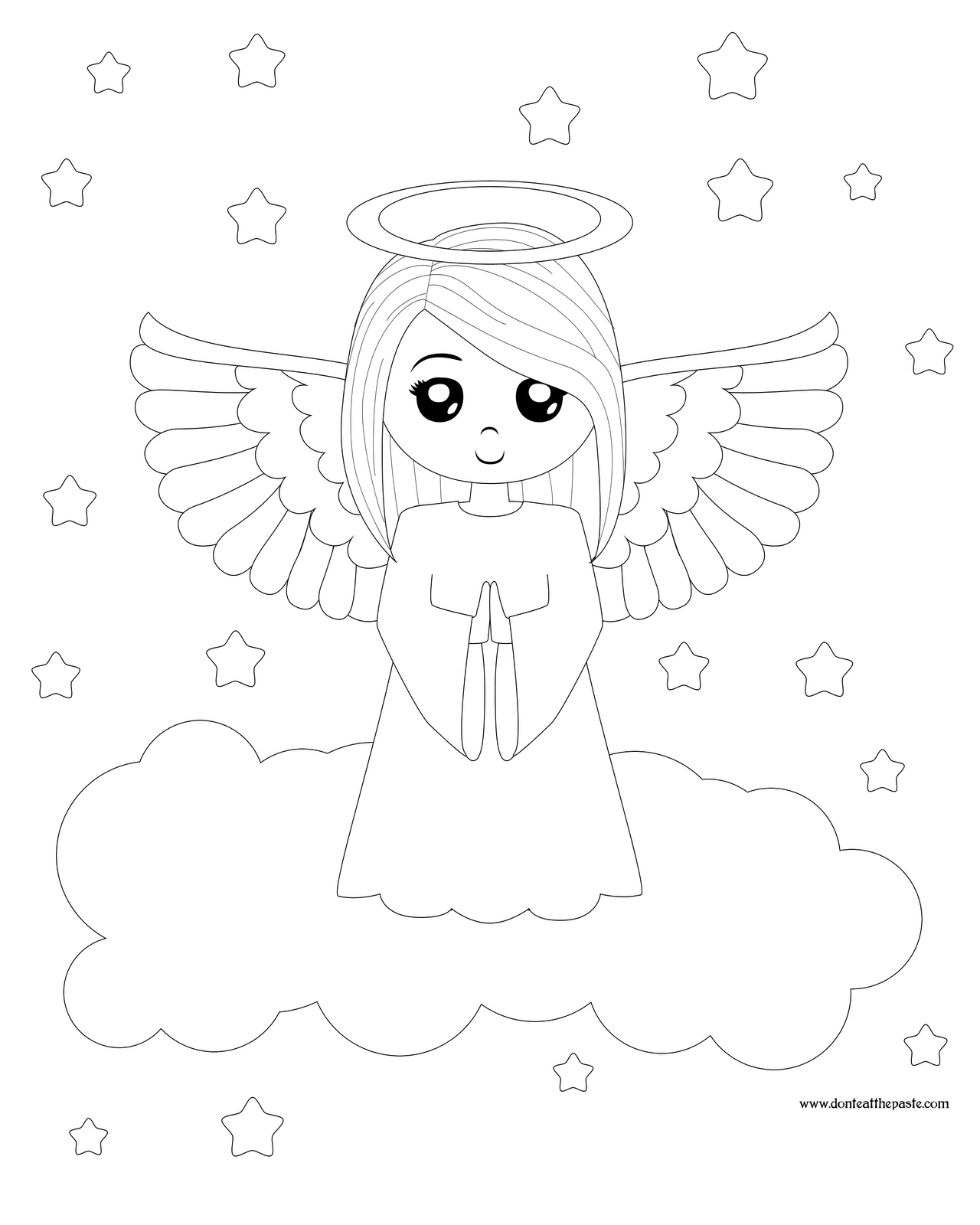 Angel Coloring Pages To Download And Print For Free