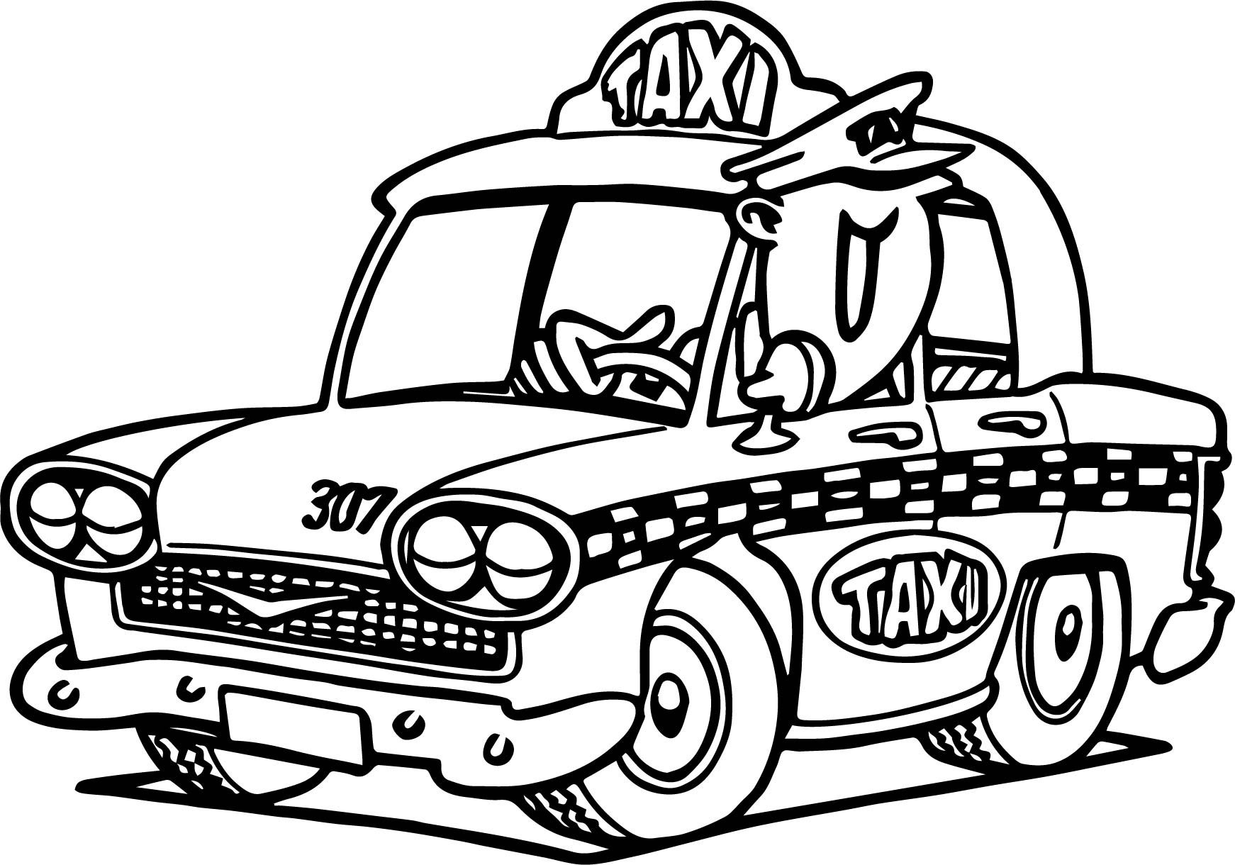 Taxi Sheet Coloring Pages