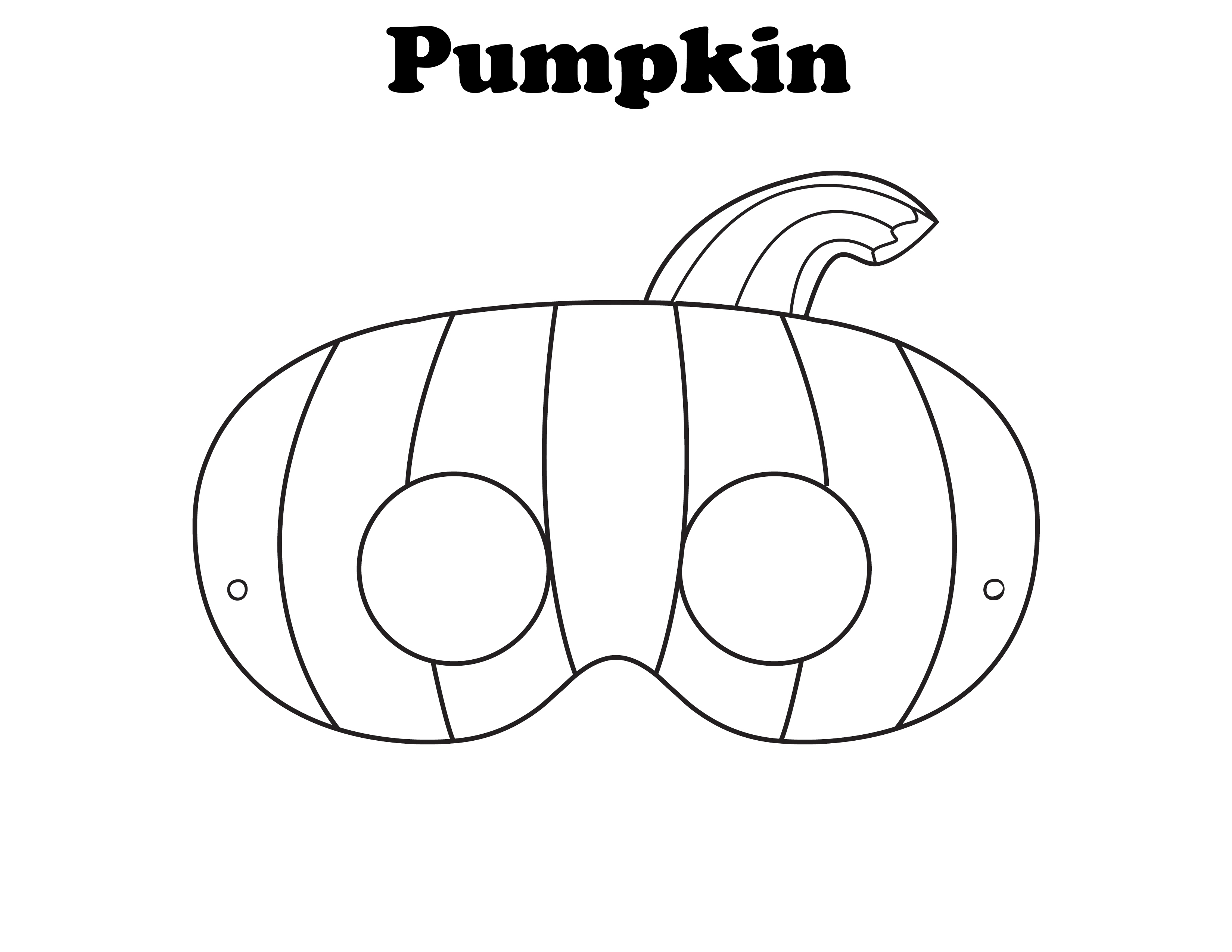 Halloween Masks Coloring Pages To Download And Print For Free