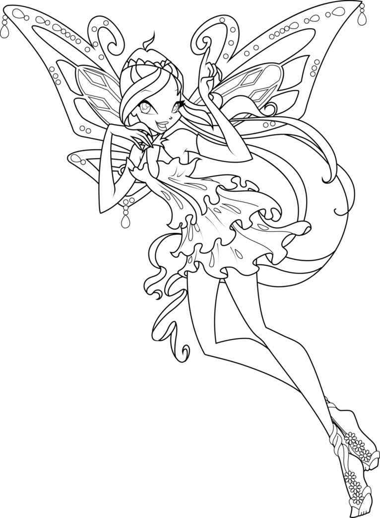 Winx Bloom Pages Stella Coloring And