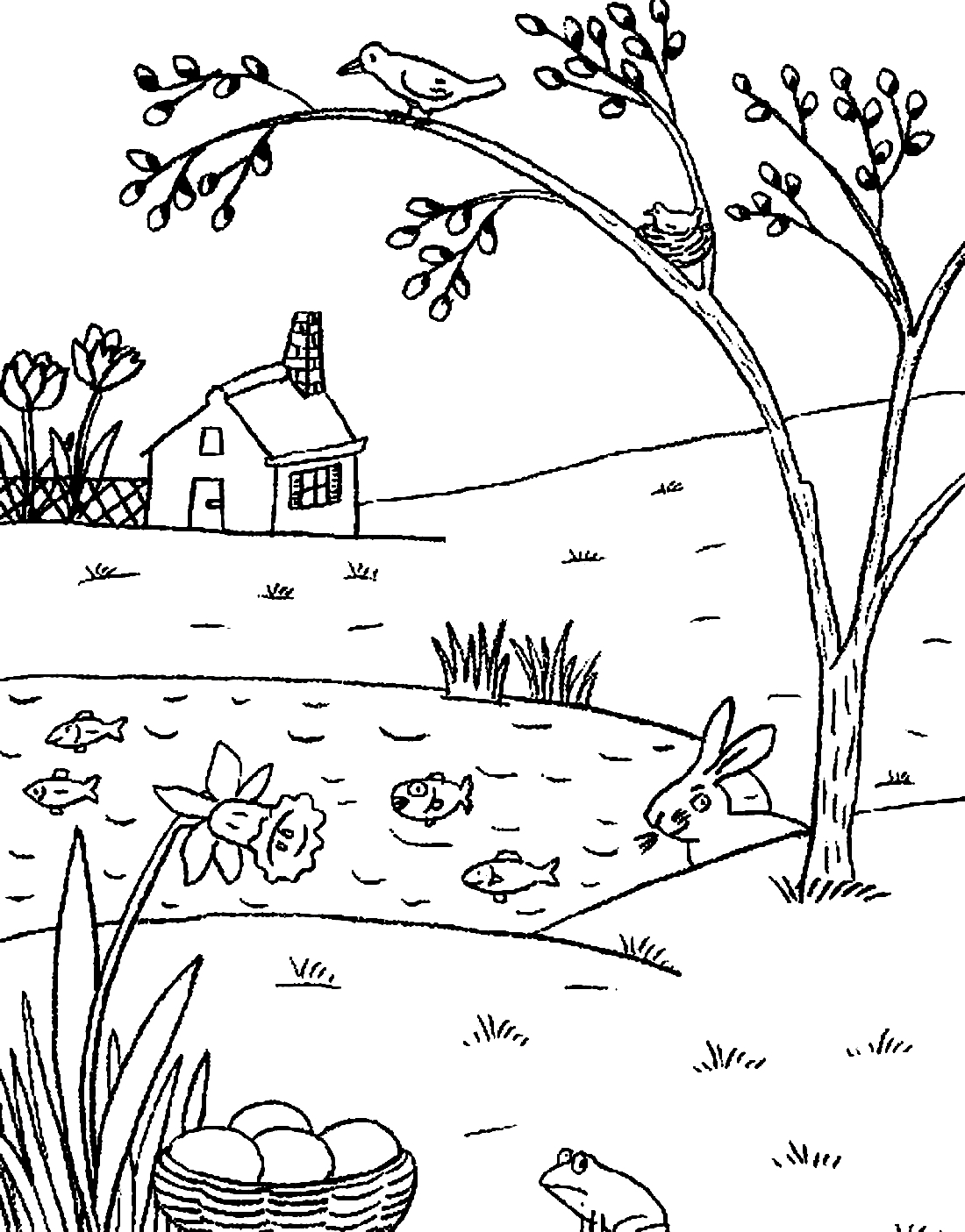 Spring Landscape Coloring Pages To Download And Print For Free