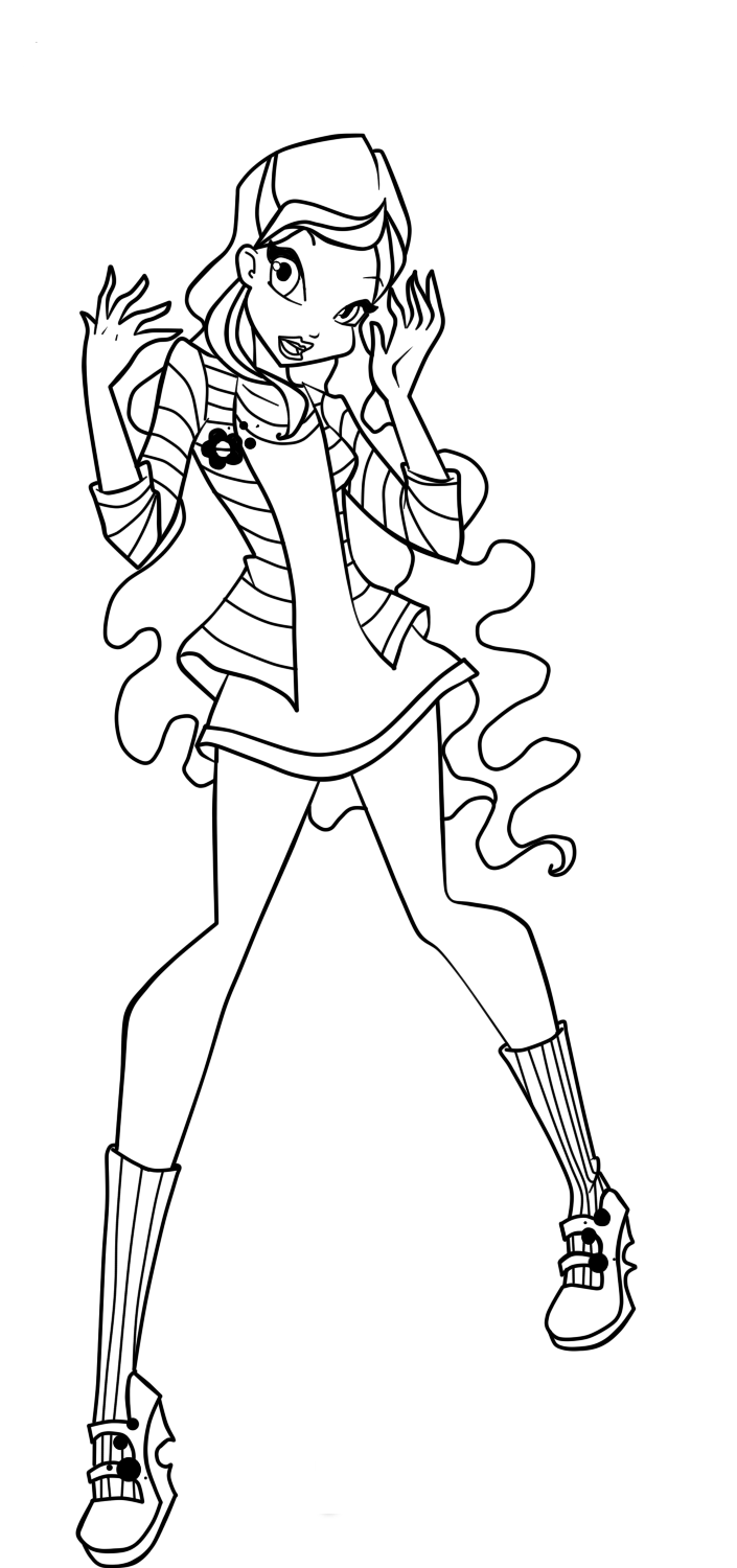 Winx Layla Coloring Pages Download And Print For Free