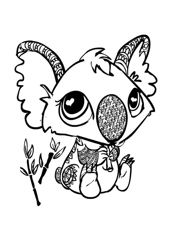 cuties coloring pages to download and print for free