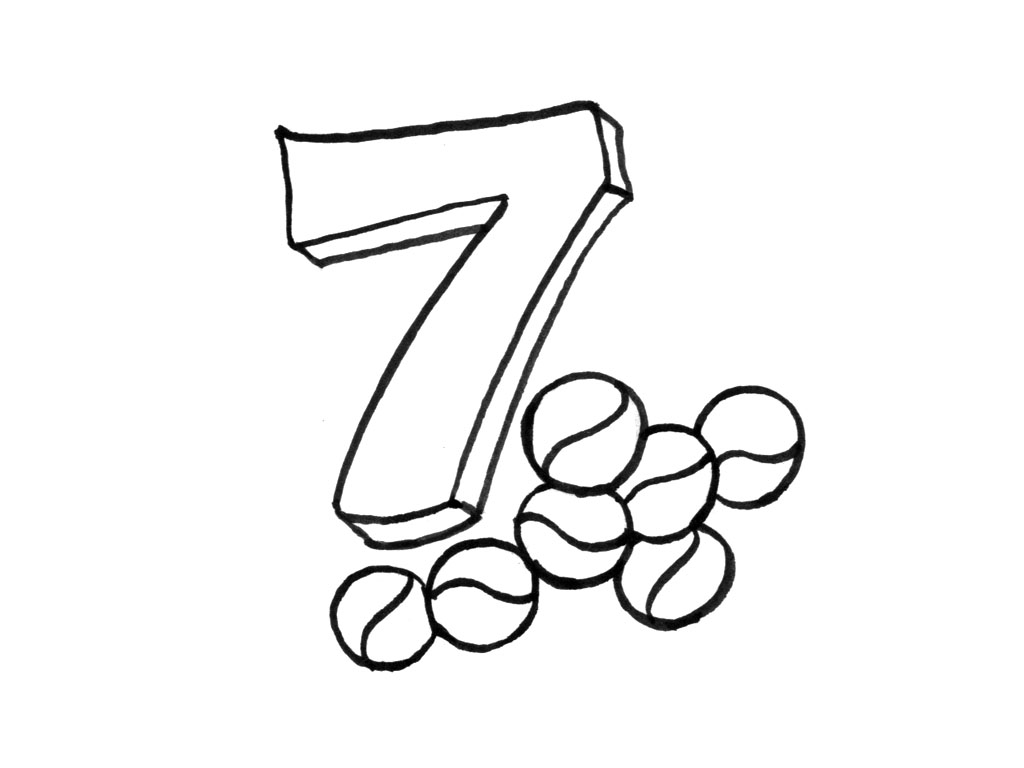 Numbers Coloring Pages For Kids Printable For Free