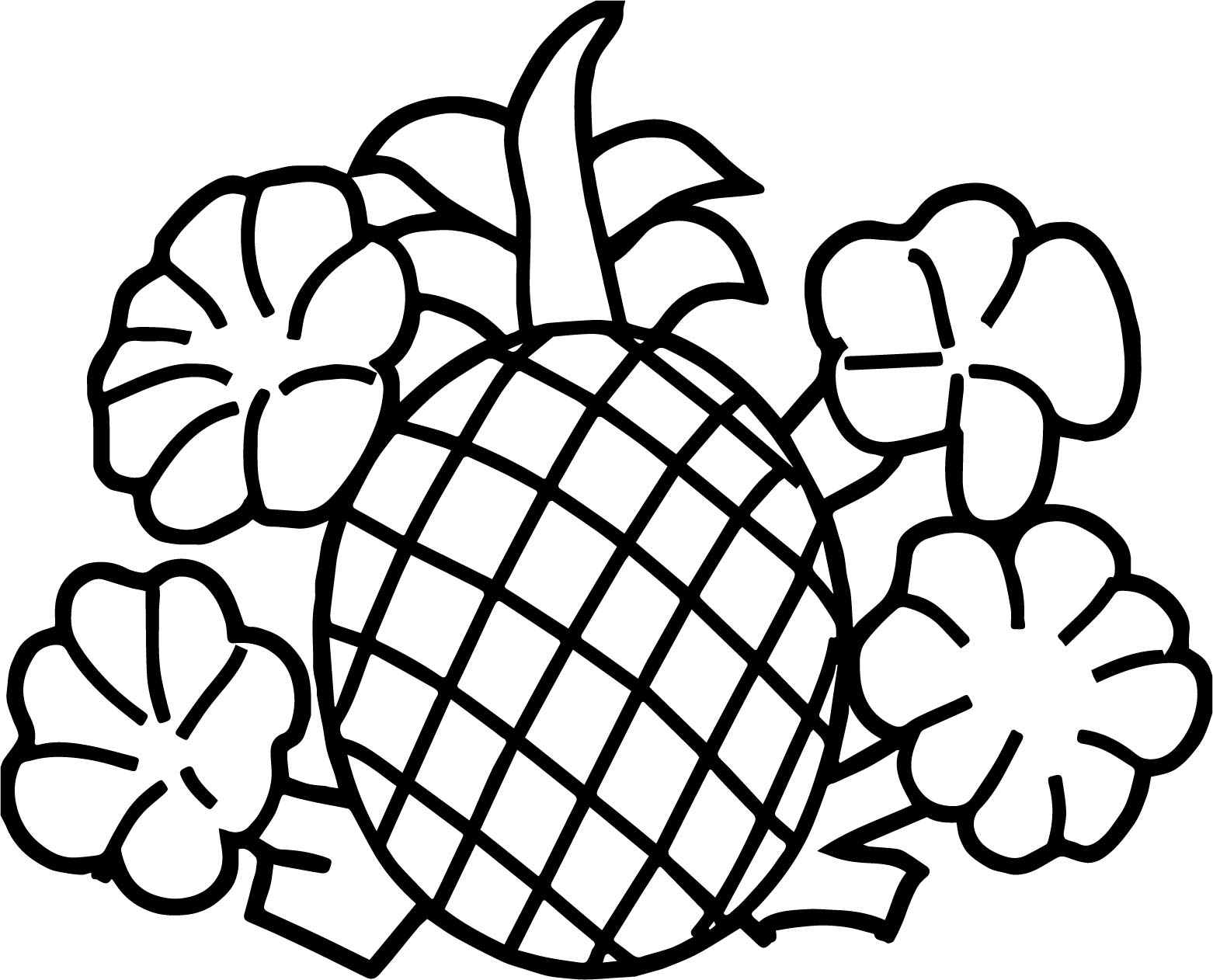 Pineapple Coloring Pages To Download And Print For Free