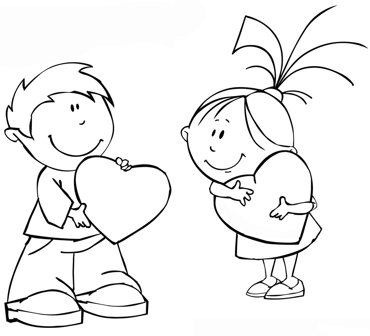 Girl And Boy Coloring Pages To Download And Print For Free
