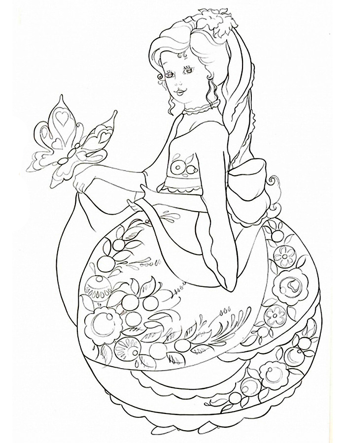 Anti Stress Coloring Pages For Girls To Download And Print
