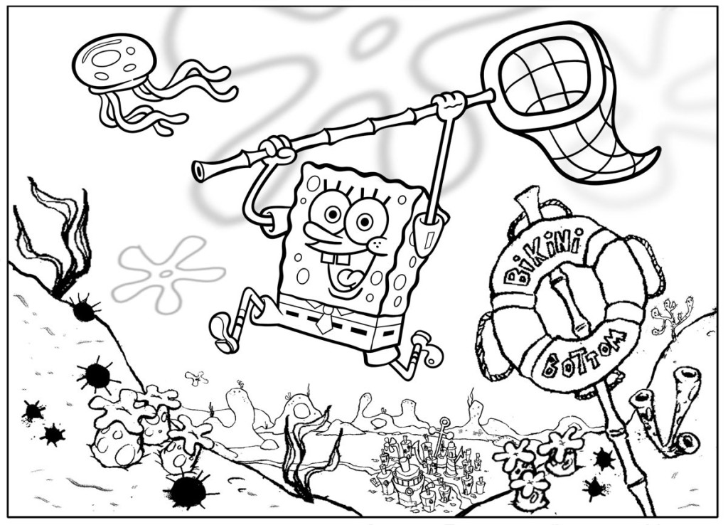 coloring pages from spongebob squarepants animated cartoons spongebob