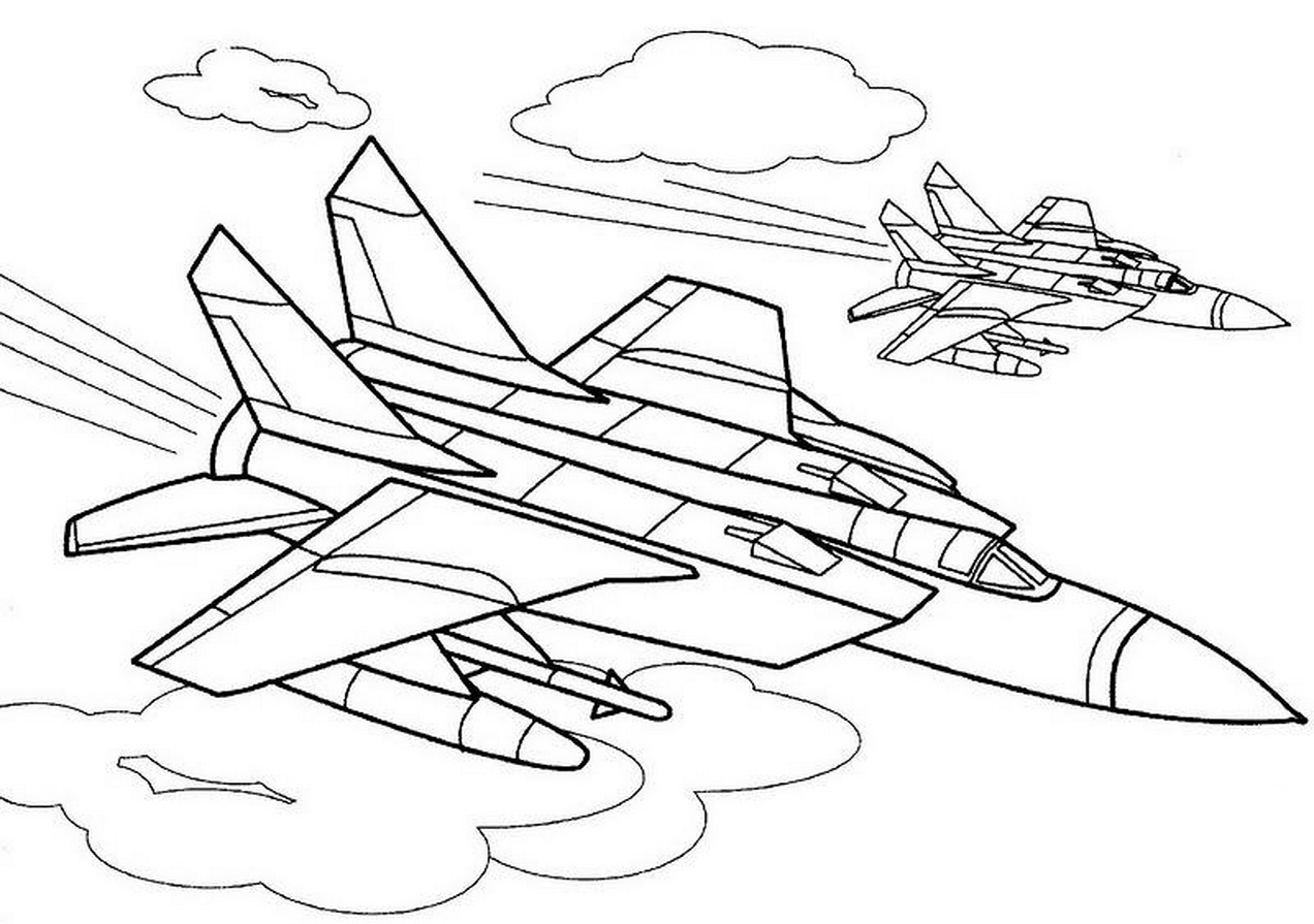 Fighter Aircraft Coloring Pages To Download And Print For Free