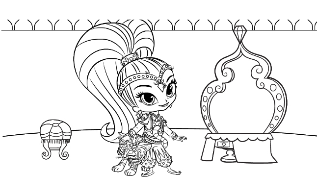 Shimmer And Shine Coloring Pages To Download And Print For