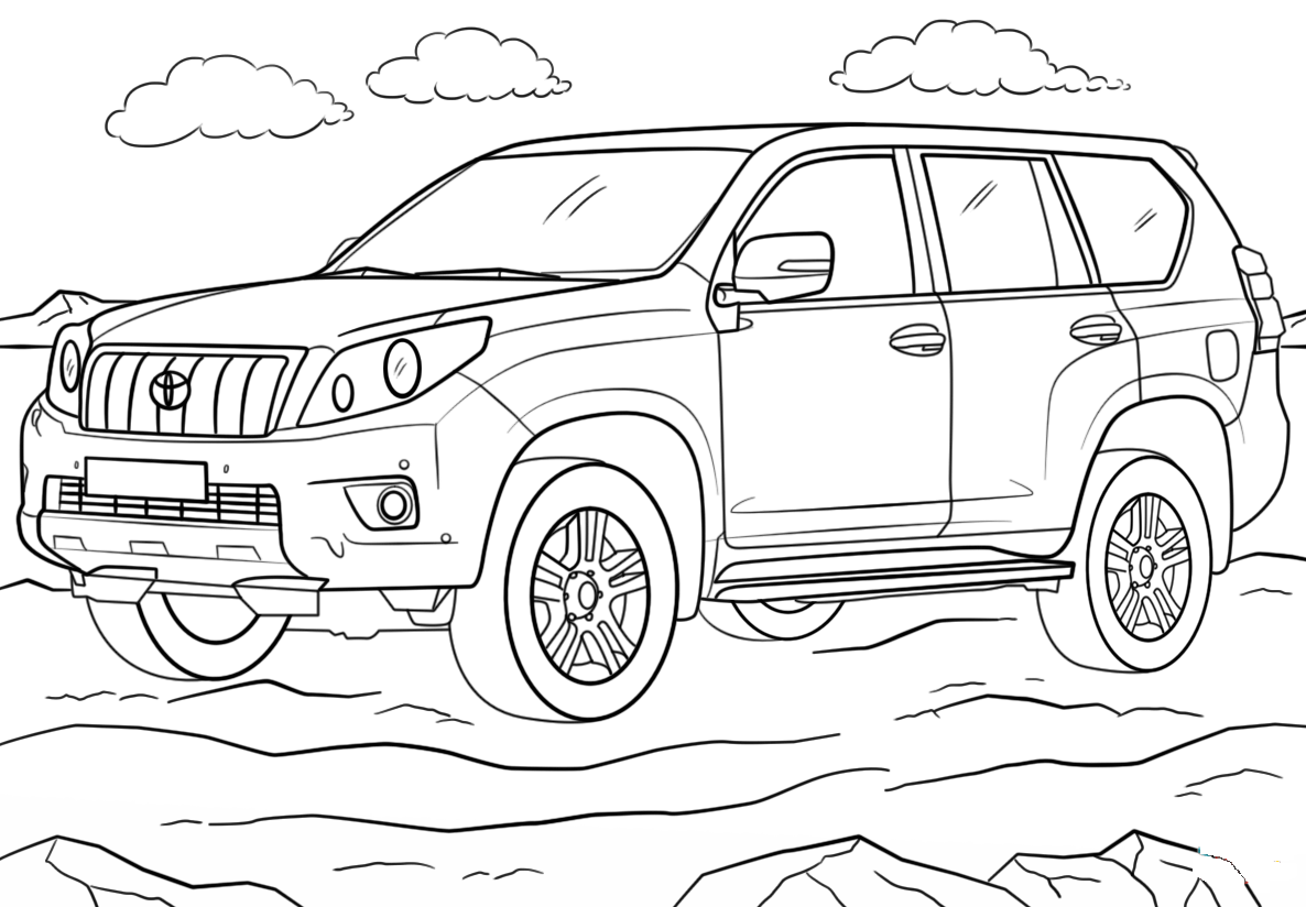 Land Cruiser Coloring Pages To Download And Print For Free
