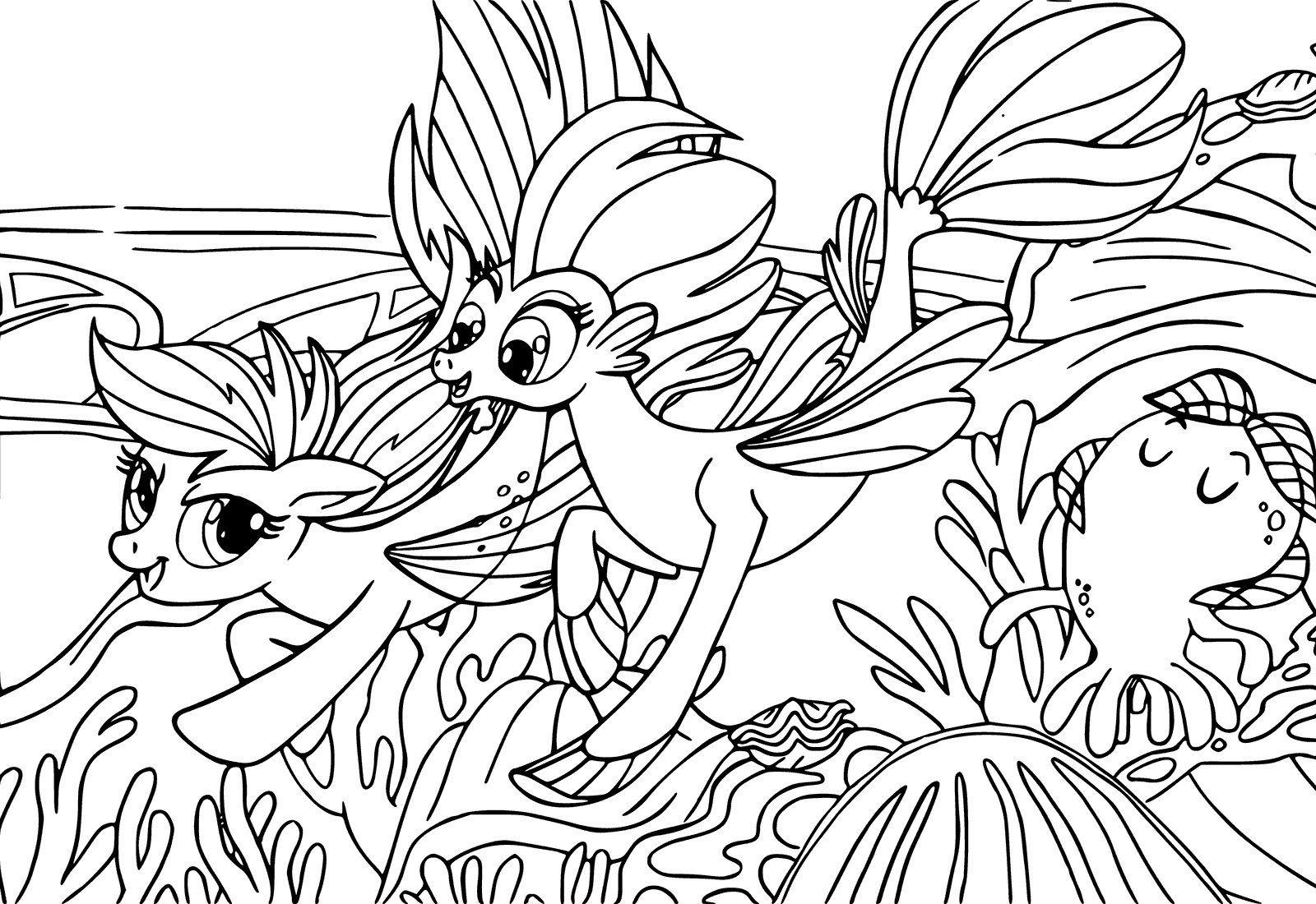 My Little Pony The Movie Coloring Pages To Download And