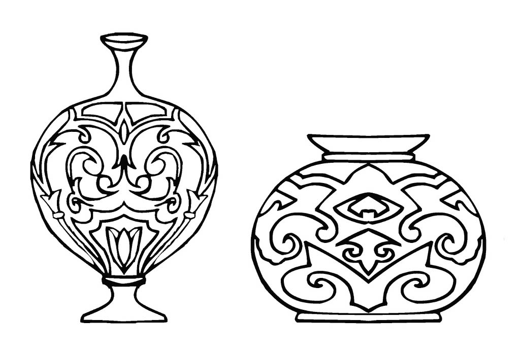 Vase Coloring Pages To Download And Print For Free