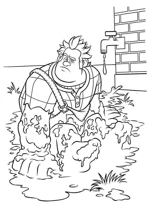 Wreck It Ralph Coloring Pages To Download And Print For Free