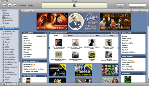 the iTunes store