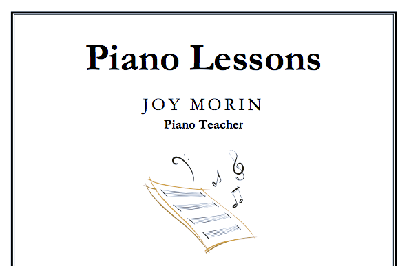 Just Added: Piano Lessons Flyer Template - Color In My Piano