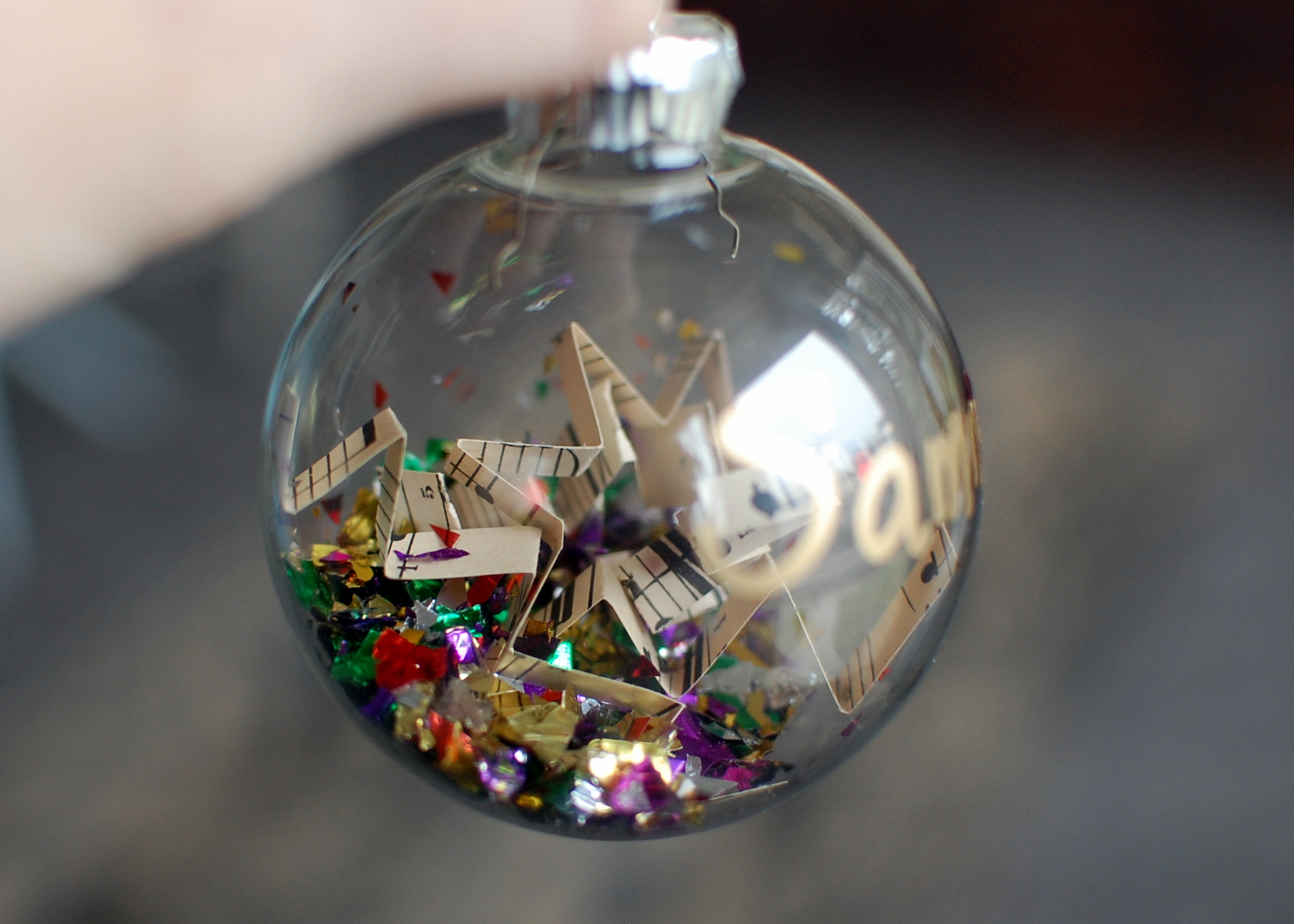 Christmas gift for piano students color in my piano for Crafts for clear glass ornament balls