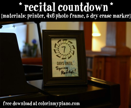 recital countdown background