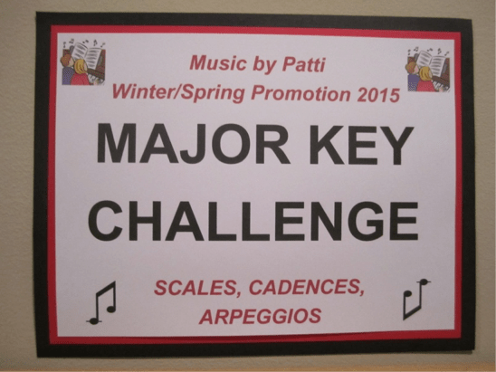 Major key challenge sign
