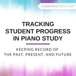 tracking student progress in piano study