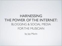 Screenshot Harnessing the Power of the Internet joy morin