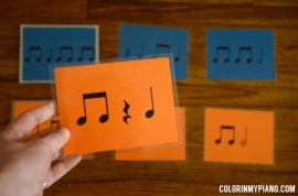 Jumbo Rhythm Cards - Set 2, which includes beamed eighth notes.