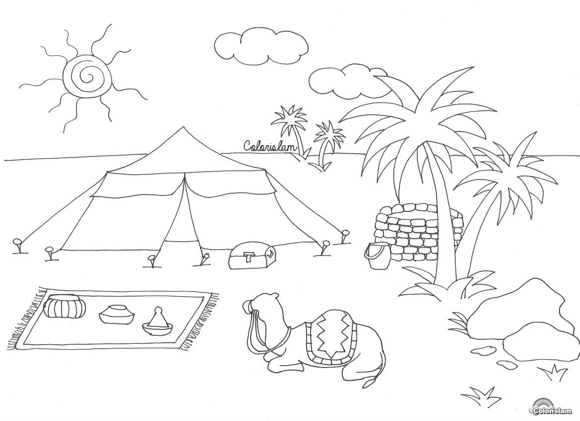 Oasis Coloring Sheet Coloring Pages