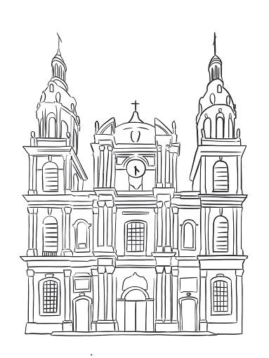 Illustration : Cathédrale de Nancy Art digital