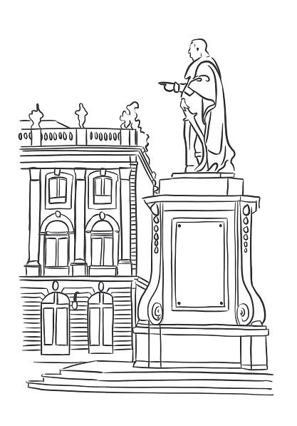 Illustration : statue Stanislas Nancy art digital