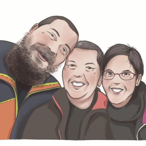 Illustration : Portrait de famille