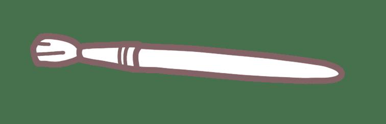 Illustration : pinceau sur fond blanc
